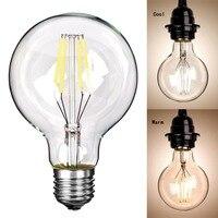 E27 4W G80 Retro Vintage Edison Filament Bulb COB LED Glass Light Lamp Beautiful Globe Bulb
