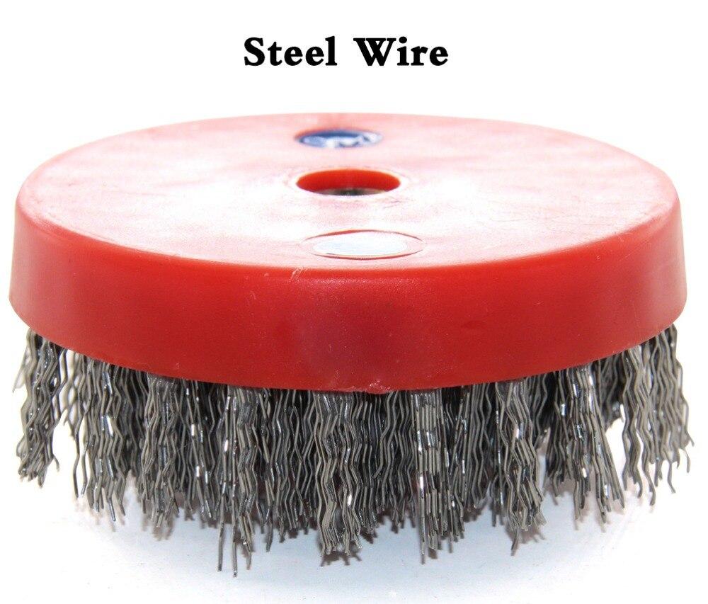 Диаметр 110 мм стальная петельная проволока и замок улитки Abasive круглая щетка Wtih резьба для очистки гранитной мраморной бетонной поверхности камня|Абразивные инструменты| | АлиЭкспресс