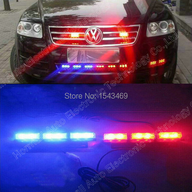2 9 Led Yellow Blue Red Green White Waterproof Truck Car Grille Light Lamp Strobe Flash