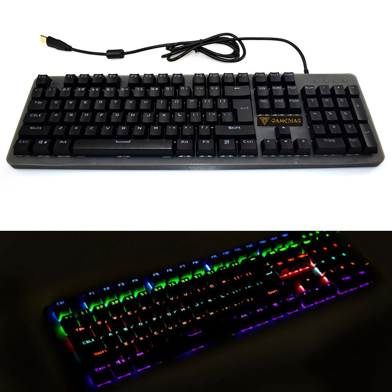 Mechanical Gaming Keyboard Waterproof Metal Backlit Wired 12 Modes Lighting USB IJS998