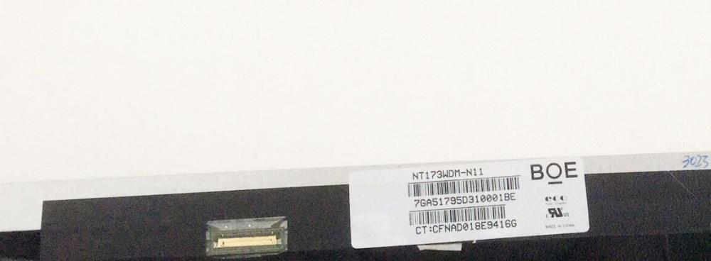 For Boe NT173WDM N11 Matrix for Laptop 17 3 HD 1600X900 30Pin Glossy LED Screen LCD