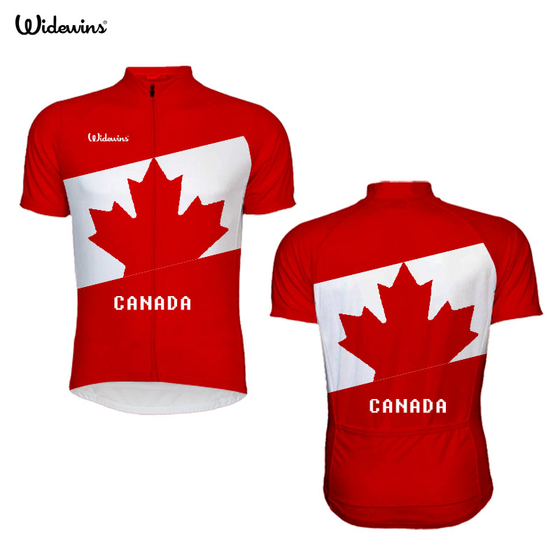 2017 Cycling Jersey Pro Team Kanada Män Bär Maple Leaf Flag Jersey Jersey Kortärmad Cykling / MTB / Cykel Custom Man Clothing Jersey