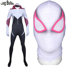 Ling Bultez High Quality Gwen Stacy Costume Spider Woman Cosplay Spandex Suit Custom Made Spider Gwen Lycra Suit