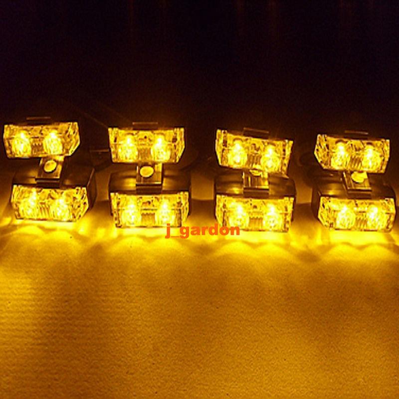 VSLED 2x 8 LED 1W (16 LED) Flashing Beacon Recovery Light Emergency Grill Light Waterproof Magnets Light