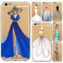Teléfono case para iphone 6 6 s 5 5S sí 5c 6 p 6 splus 7 7 más chica diseño cubierta suave del claro tpu ultra delgada hermosa chica bikini estilos