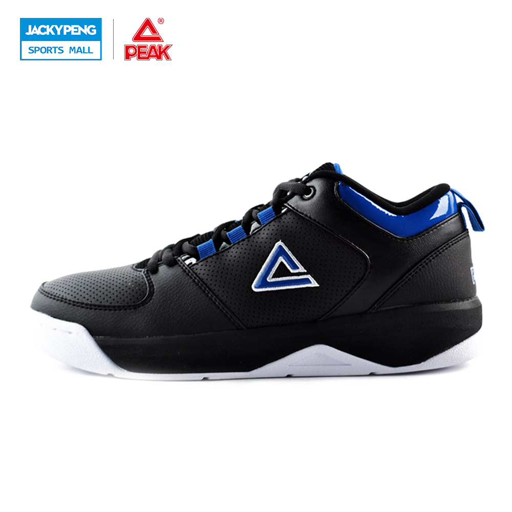 PEAK SPORT Men Basketball Shoes Wear-resistant Non-Slip Breathable Training Medium Cut Boots Durable Rubber Outsole Sneakers eosuns innovative cob angel eye led daytime running light drl halogen fog light projector lens for honda civic 10th 2016