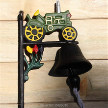 Antique Cast Iron WELCOME Dinner Bell Wall Mounted Home Store Decor Garden Yard Door Metal Crafts Gift Free Shipping