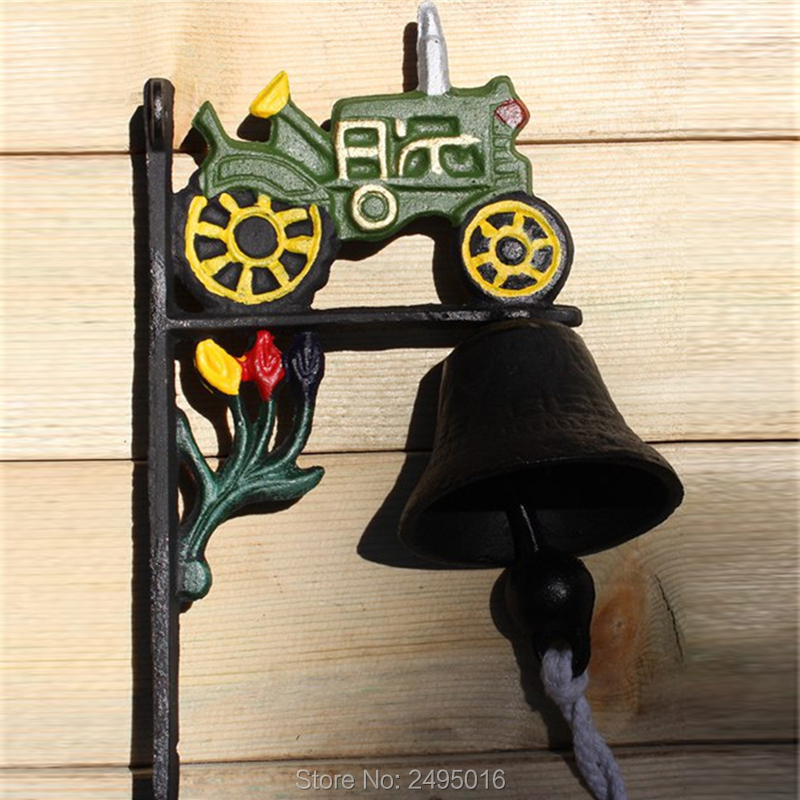 Antique Cast Iron WELCOME Dinner Bell Wall Mounted Home Store Wall Decor Bell Garden Yard Door Metal Crafts Gift Free Shipping