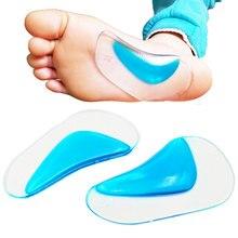 Plantilla ortopédica profesional plantilla soporte arco pie plano zapato corrector cojín relleno de Gel de silicona ortopédicos pad