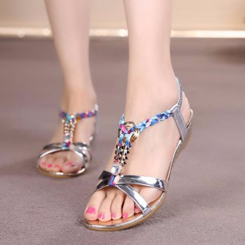 cbc387b826200e Detail Feedback Questions about Women sandals on a wedge Summer Casual  String Bead Sandals Soft wedges heel shoes for women Girls chaussures femme  zapatos ...