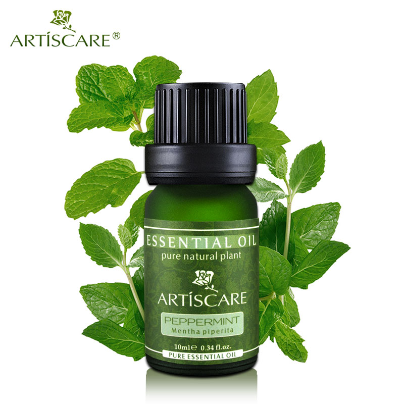 ARTISCARE 100% Peppermint Pure Essential Oil 10ml Deep Clean Pores and Black Head Cleansing Skin Relieve Tired and HeadacheARTISCARE 100% Peppermint Pure Essential Oil 10ml Deep Clean Pores and Black Head Cleansing Skin Relieve Tired and Headache