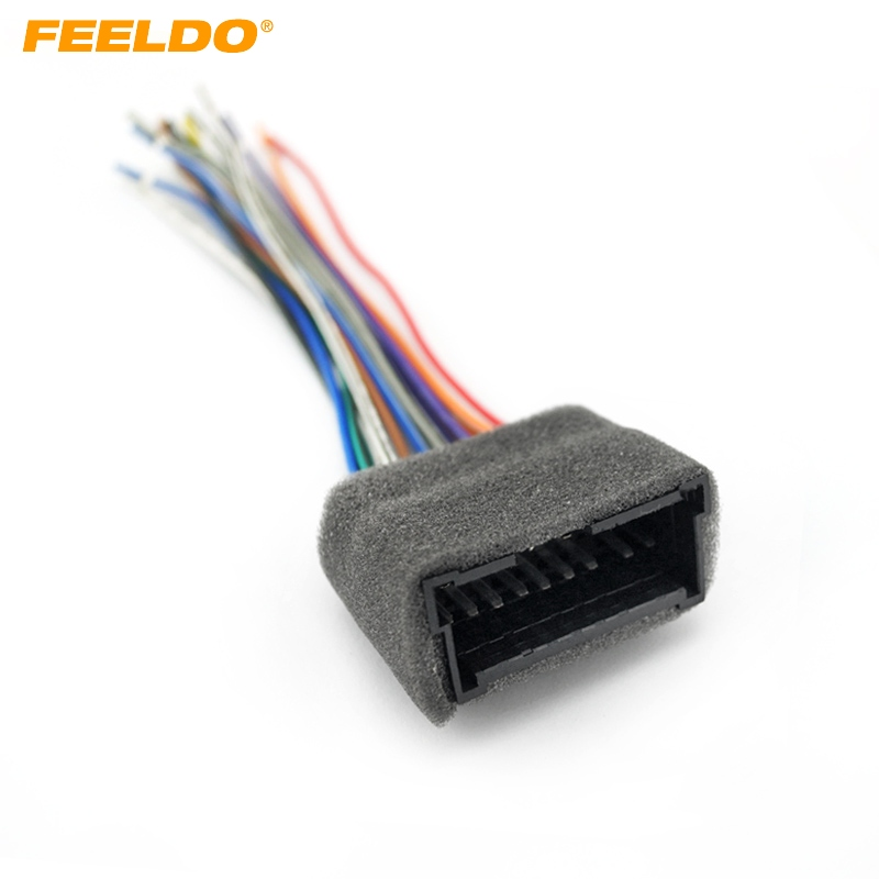 feeldo 1pc car oem audio stereo wiring harness adapter for. Black Bedroom Furniture Sets. Home Design Ideas