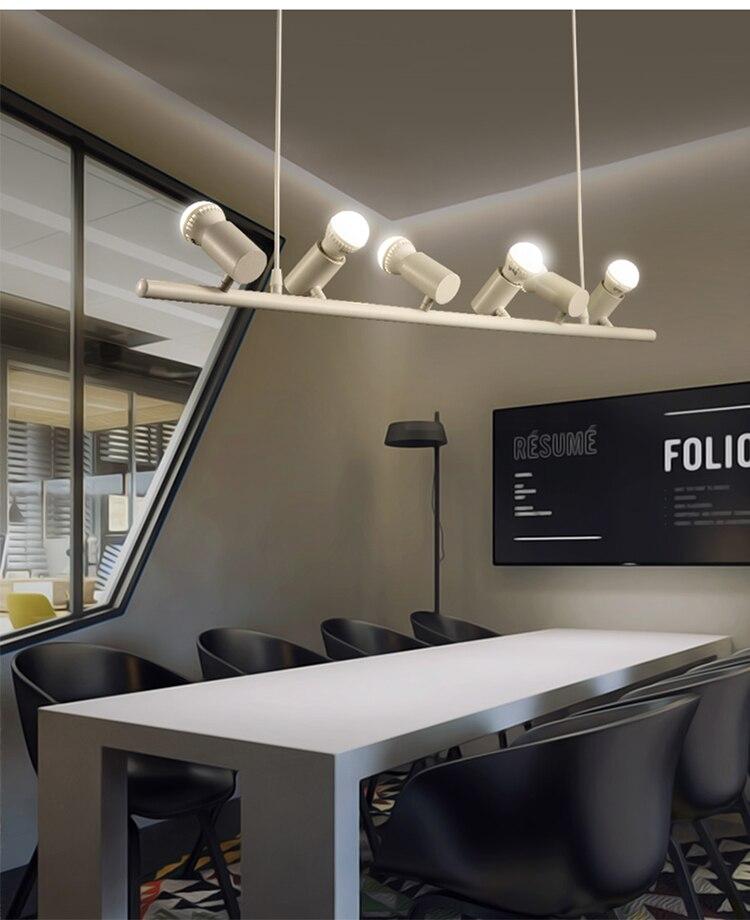 Modern European 6 Heads pendant lamps restaurant bar bedroom light birds light 6 birds head droplight pendant lighst