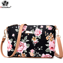Fashion Flower Crossbody Bags for Women Famous Brand Leather Shoulder Bag Female Simple Messenger Bag Sac A Main Clutch Purse цена в Москве и Питере
