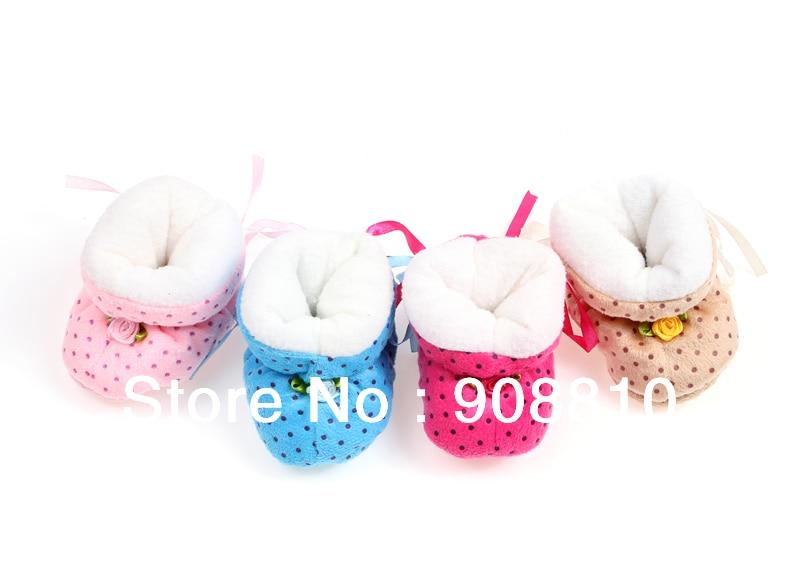 ⑥Bebé de invierno botines calientes zapatos de suela suave algodón ...