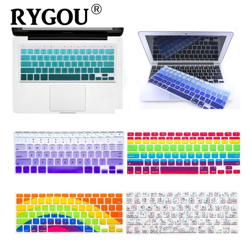 Image 1 - Flowery Keyboard Cover Compatible for MacBook Pro 13 15 (2009 2015 Model) /Old MacBook Air 13, iMac Wireless Keyboard (1st Gen)-in Keyboard Covers from Computer & Office