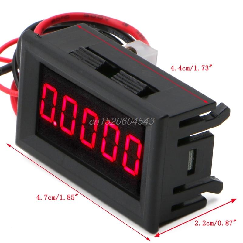 0.36 LED Display Meter Digital Ammeters Panel 5 Digit Current Amp Gauge Tester R02 Drop ship high precision accuracy 0 56 5 digits dc ammeter digital amp meter panel meter led current tester gauge monitor