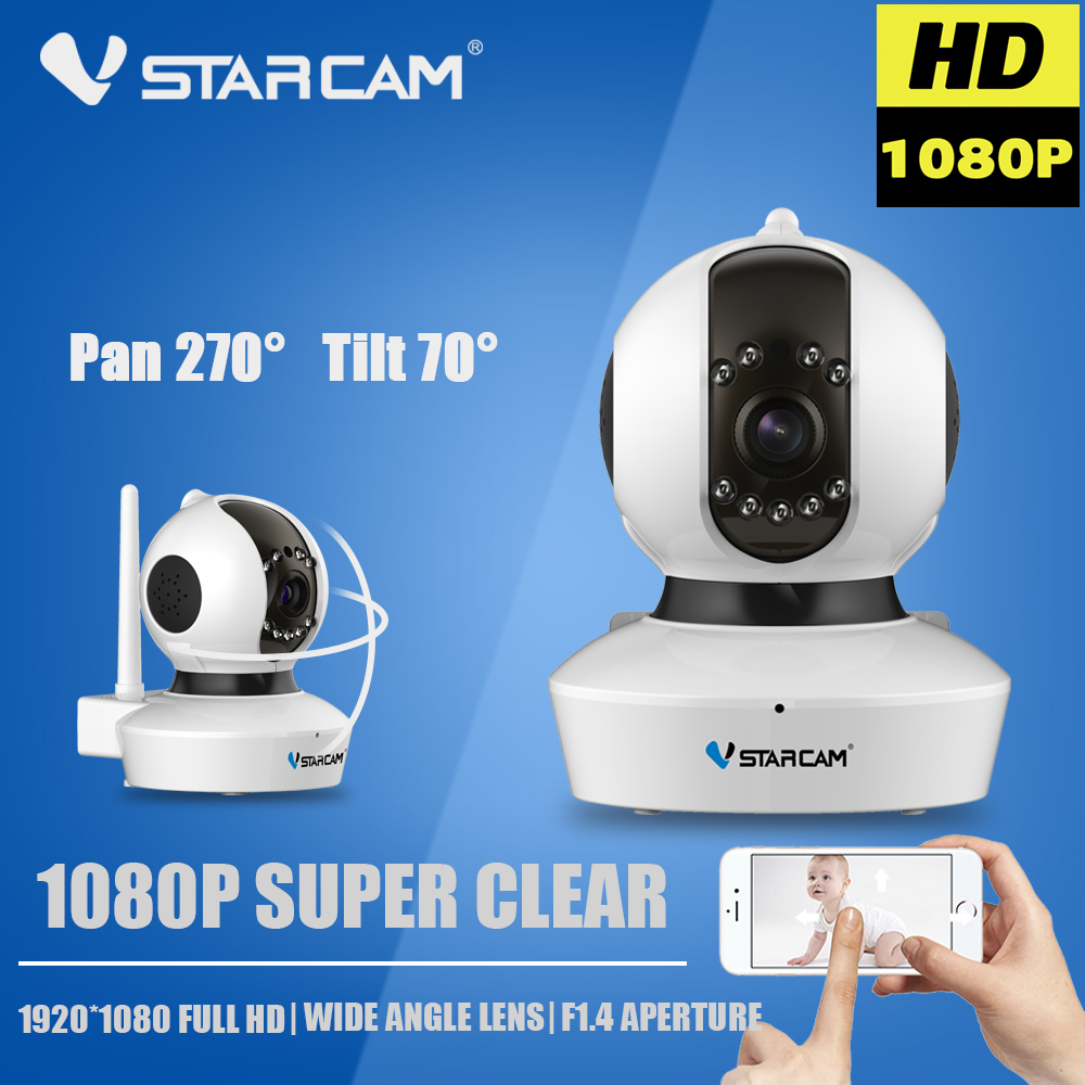 WIFI Camera Vstarcam C23S 1080P wi-fi IP Camera CCTV Surveillance Security Camara Wireless Baby Monitor P2P Onvif SD Card Indoor 2015 vstarcam t6835 micro tf sd card security ip camera wireless wifi p2p plug