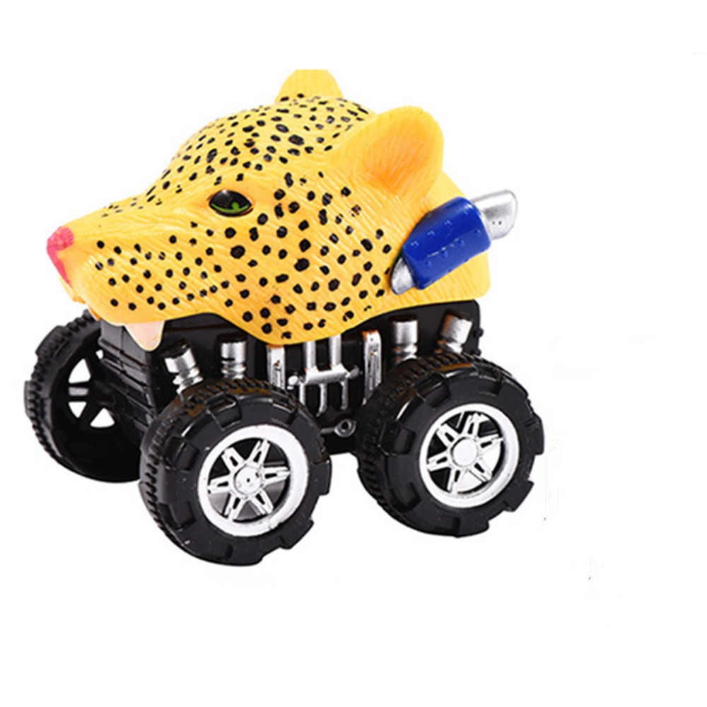 2019 Grappige Verbeteren Intelligentie Speelgoed Mini Voertuig Dier Pull Back Auto met Grote Wiel Creatieve Cadeaus voor Kid Kind gift F4