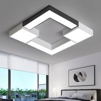 LICAN Square Metal lampe plafond avize Lighting fixture 110V 220V Modern LED Ceiling Lights for Living room Bedroom