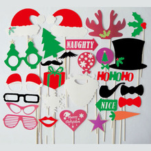 Funny Take Photos Props Christmas PartyBirthday Wedding Supplies Tree  Glasses Little Hat Star Gift Patten Wholesale 60d134fcd22