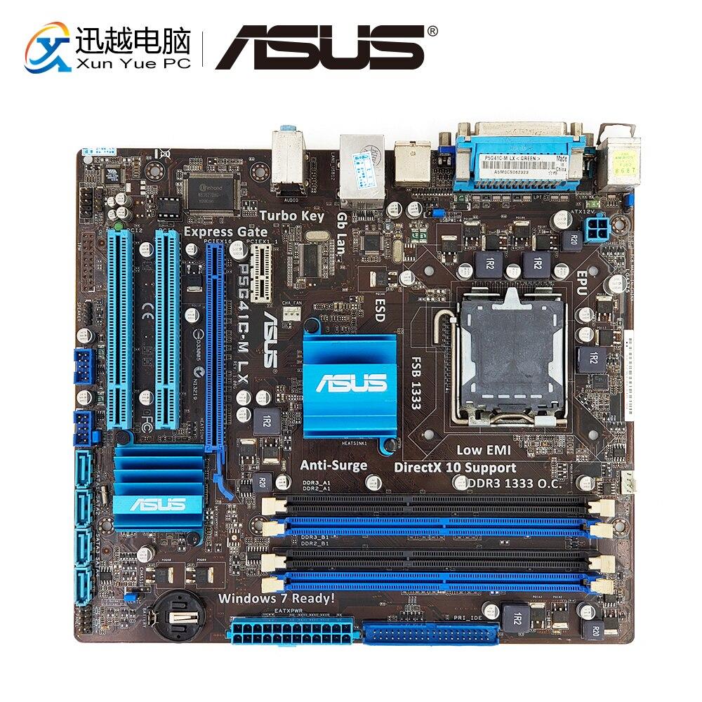 Asus P5G41C-M LX Desktop Motherboard G41 Socket LGA 775 DDR2 8G & DDR3 8G SATA2 USB2.0 VGA uATX used for asus p5g41t m lx v2 original desktop motherboard g41 socket lga 775 ddr3 8g sata2 usb2 0