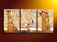Free Shipping Abstract Figure Hand Painted 3 Pieces Group Oil Painting On Canvas TDS TH282