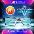 Gafas titanium enmarcan men marco de anteojos equipo óptico prescription lectura clara lente ojo masculino gafas lunette de vue