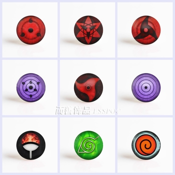 5Pcs/lot Anime Naruto Rinnegan Write Round Eyes 25mm Glass Cabochon Pendant DIY Glass Dome Jewelry Accessories e services logo