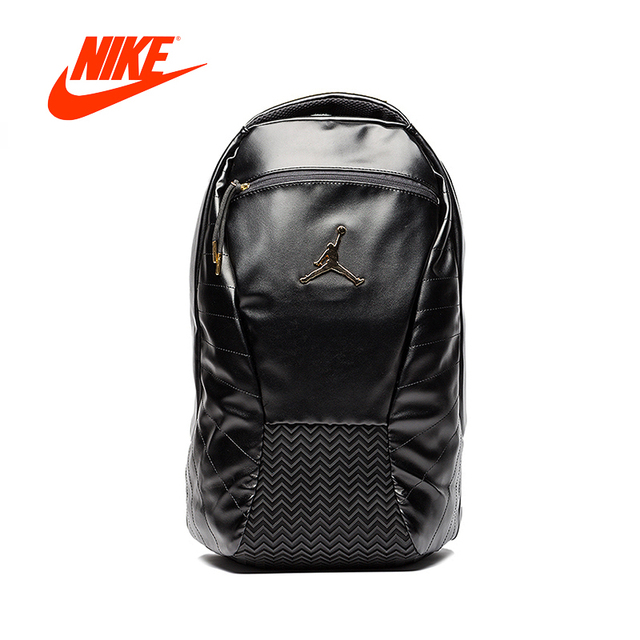 Original New Arrival Authentic Nike Air Jordan 12 AJ12 Black Gold Backpacks  Men s   Women s Shoulder Bags Sports Bags 9A1773-429 5f6d028e4e