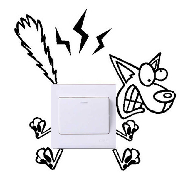 Various Wall Stickers Light Switch Decor Poster Decals Art Mural Living Room Home Decorations PVC Wallpaper for living room