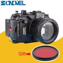 Meikon 40 м 130ft Водонепроницаемый подводный чехол Камера Корпус чехол для Sony A5000 с 16-50 мм объектив + 67 мм красный фильтр