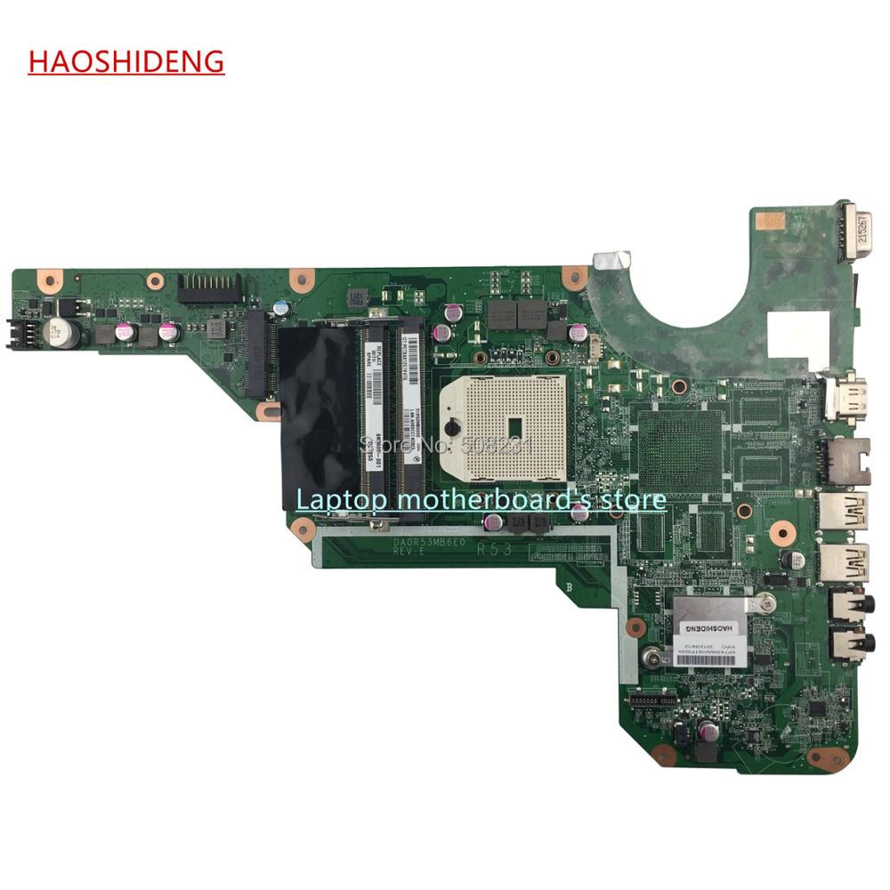 HAOSHIDENG 683029-001 683029-501 R53 DA0R53MB6E0 for HP PAVILION G4 G6 G7 G4-2000 G6-2000 laptop motherboard fully Tested free shipping 100% tested 697230 001 board for hp pavilion g6 g6 2000 laptop motherboard with for amd cpu e2 1800 100%full tes