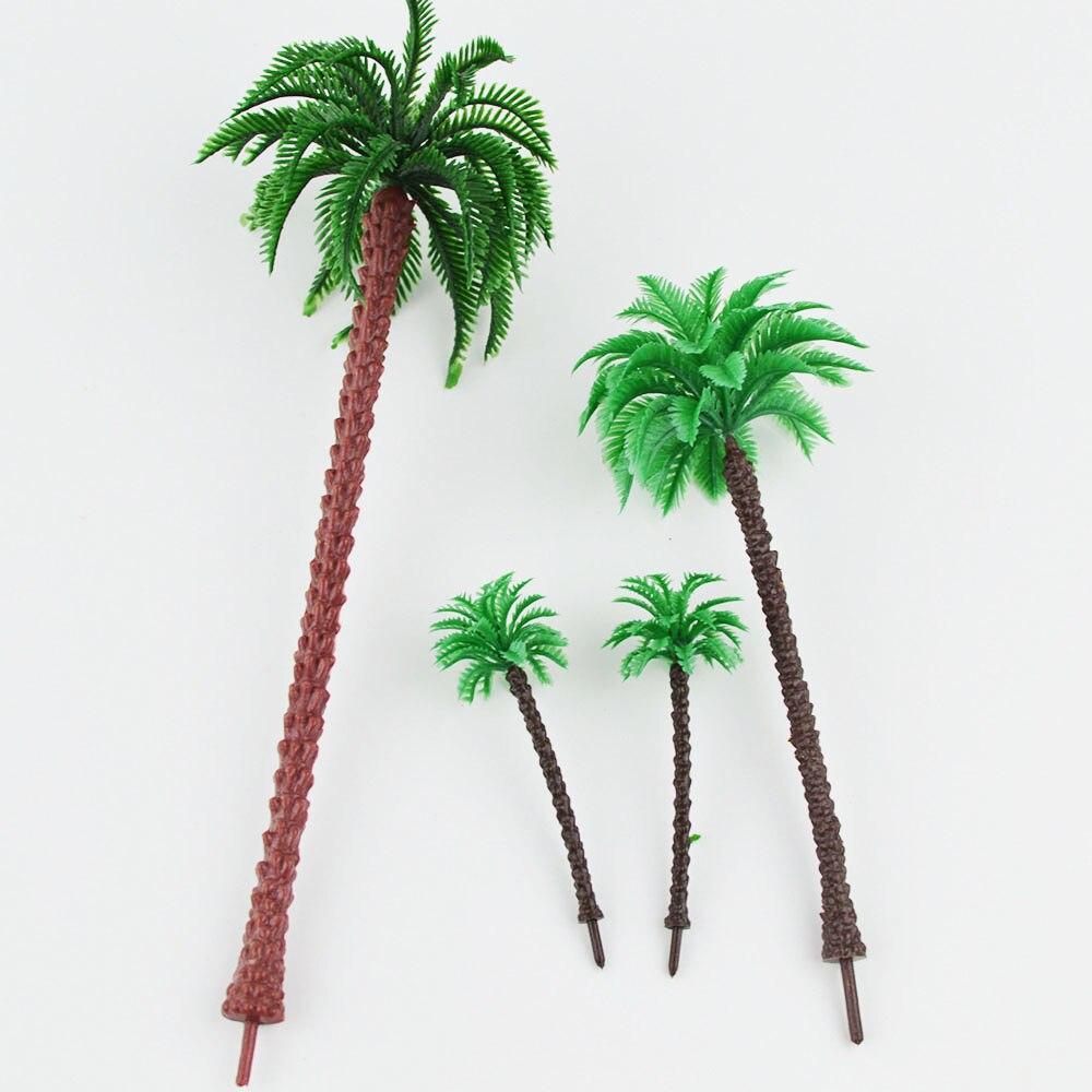 Oyuncaklar ve Hobi Ürünleri'ten Modeli Yapı Setleri'de 3 cm/5 cm/7 cm/9 cm ölçekli model sahil palm trees Minyatür Model Ağaçları MODELI peyzaj Tren Demiryolu Park Sahne'da  Grup 1