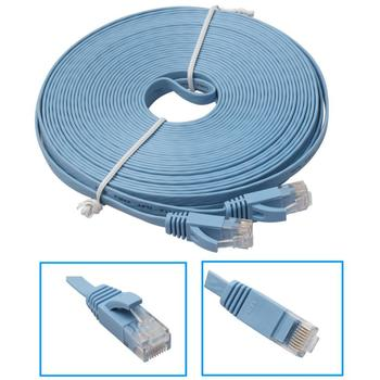 High Quality 10M Flat Ethernet CAT6 Network Cable Patch Lead for Smart TVPS4Xbox Wholesale Dec22