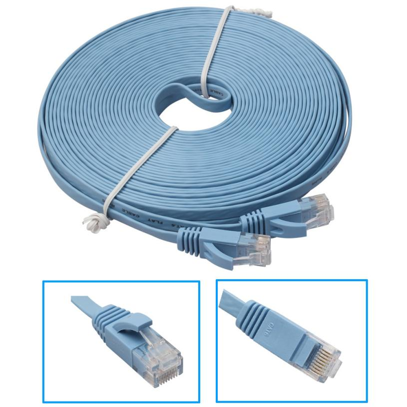 High Quality 10M Flat Ethernet CAT6 Network Cable Patch Lead for Smart TV/PS4/Xbox Wholesale Dec22