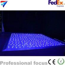أرضية للرقص بنجوم ليد 20ft * 20ft لون أبيض لقاعة الرقص بالنجوم لعرض حفلات الزفاف مصابيح نادي الديسكو