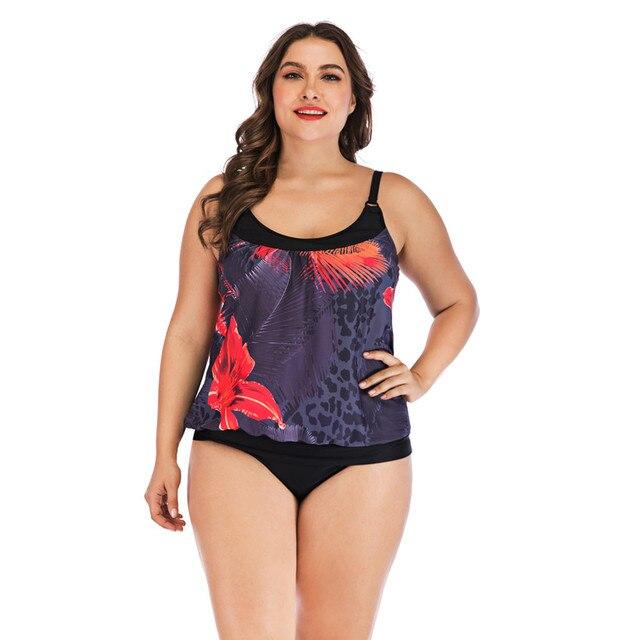 בתוספת גודל 5xl בגדי ים נשים סקסי Tankini שתי חתיכה בגדי ים נשים 2019 שחור סקסי Tankini Push Up רחצה חליפת נשים biquinis