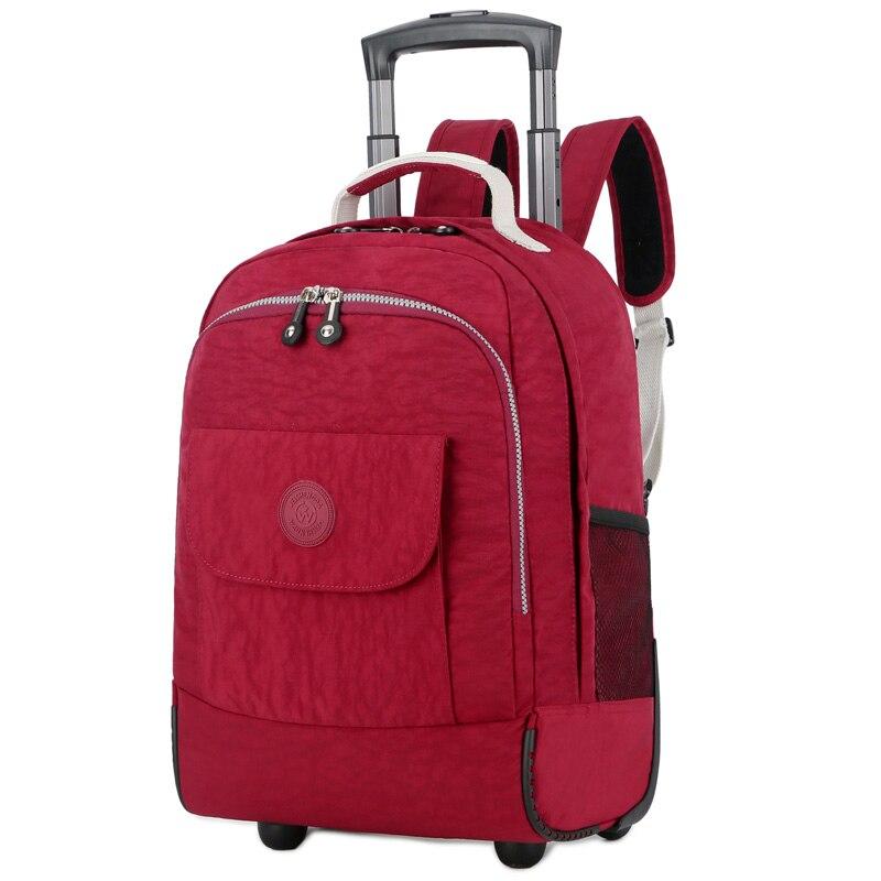 18 Inch Nylon Waterproof School Bag Luggage With Wheels