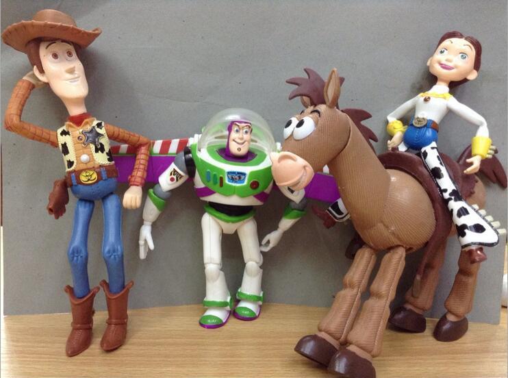 Free shipping 4pcs/set Toy Story 3 Buzz Lightyear Woody Jessie PVC Action Figures Toys Dolls ...