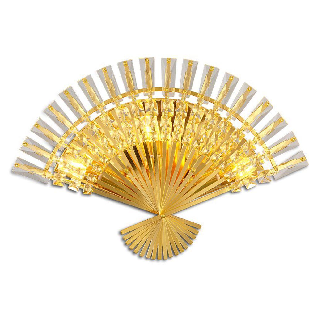 Modern Crystal Fan Shape Corridor Wall light Luxury European Crystal ...