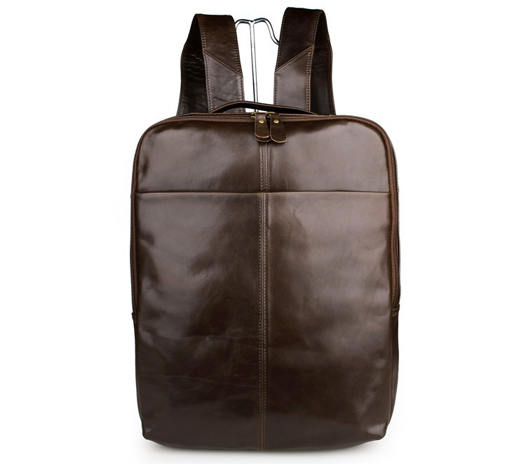 Fashion Men Backpacks Genuine Leather Women Backpack Unisex 14 Laptop Bag Men Travel Bags Office Men
