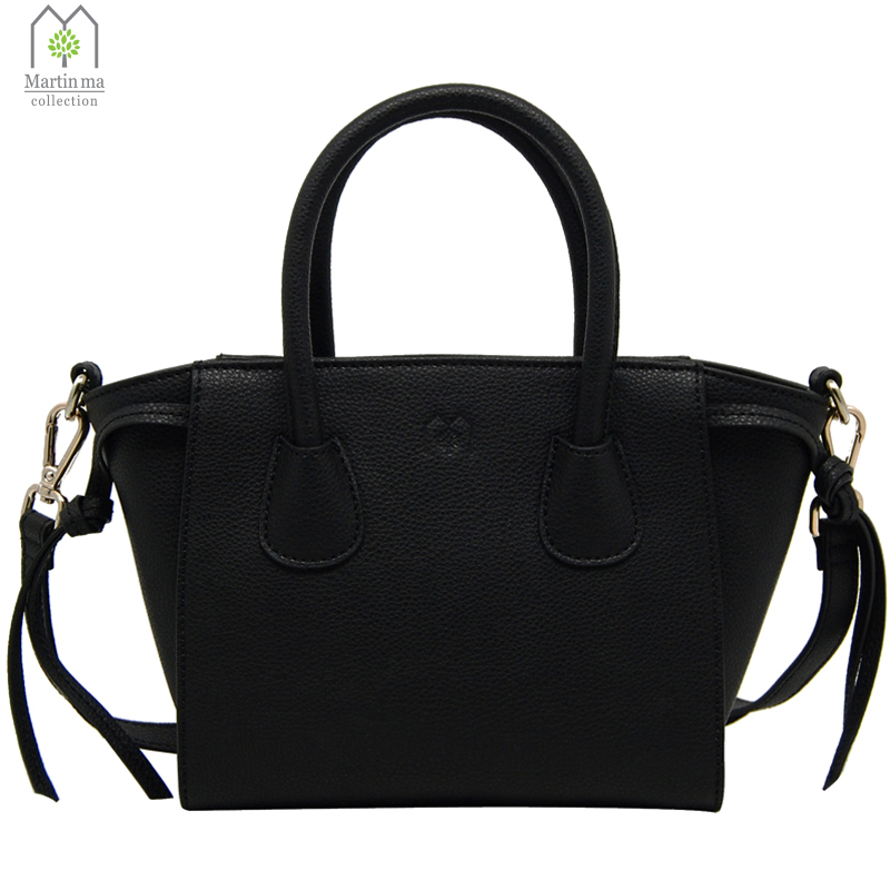 Martin Ma Woman Smiling Face Bag High Quality Cowhide Handbags Spring Casual Tote Bag Big Shoulder Bags For Women Black женские толстовки и кофты new brand 2015 o cy4728 122