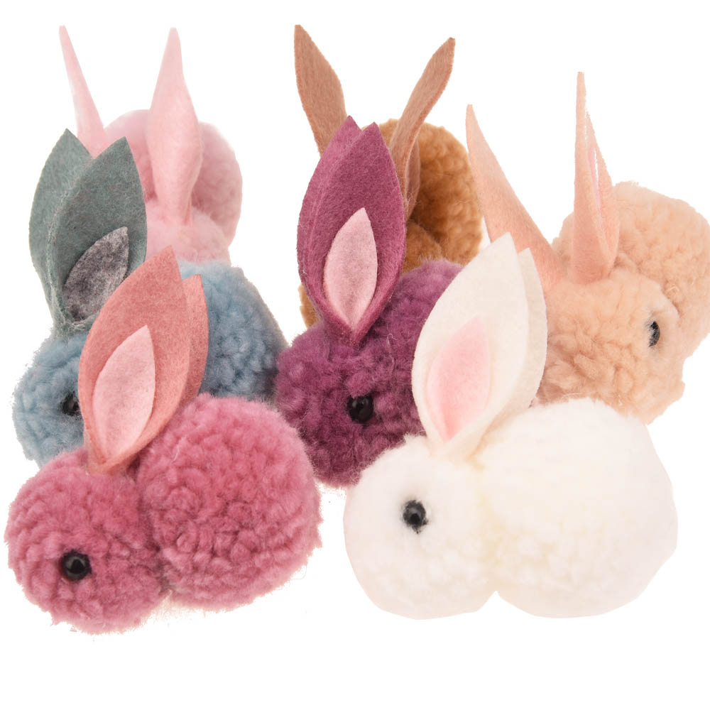 Latest Collection Of Ins Retail Boutique Fashion Cute Bow Lace Skirt Rabbit Hair Clips Solid Felt Bunny Hairpins Princess Headwear Hair Accessories Sale Price Hair Accessories