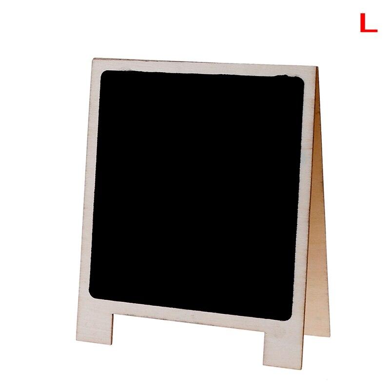 Desktop Writing Boards Wood Tabletop Chalkboard Double Sided Blackboard Message Board Stationery Office Supplies Size L