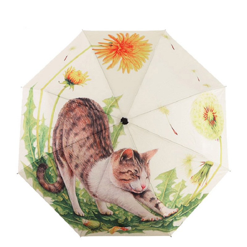 Butterfly TRADE Automatic Umbrella Durable Oil Painting Umbrellas for Women