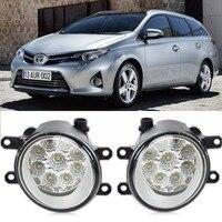 Car Styling For Toyota Auris 2012 2016 Corolla iM 9 Pieces Leds Chips LED Fog Head Lamp H11 H8 12V 55W Halogen Fog Lights