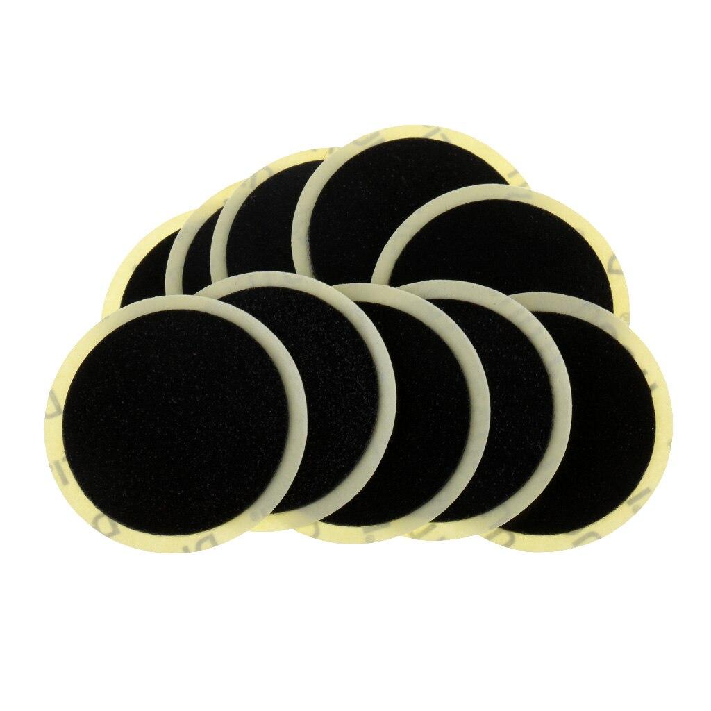 10 pièces pas besoin de colle vélo pneu Patch Kit de réparation outils vélo chambre à air crevaison réparation patchs haute qualité caoutchouc coton