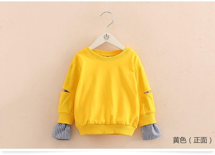 2018 Spring Autumn 2-10 11 12 Years Old Teenager Children Patchwork Fake 2 Pcs Baby Kids Basic Sweatshirt For Girls 11 12 Years (8)