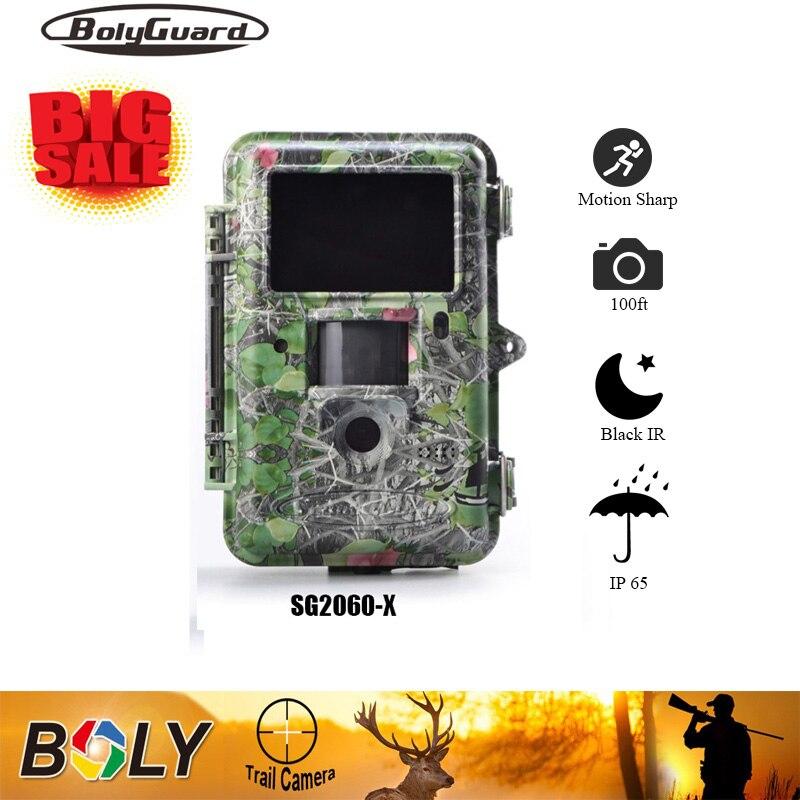 Bolyguard Wildlife Hunting Camera Black Infrared Trail Game Scouting 25MP 1080PHD 100ft Range Motion Sharp Technology